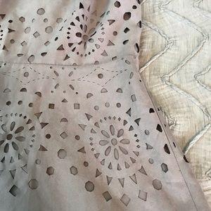 Faux Suede Gray A-Line Midi Dress